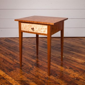 Medium side table cherry birdseye
